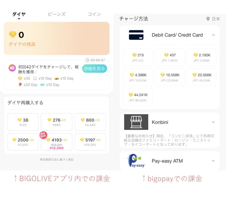 BIGOLIVE_ダイヤ課金